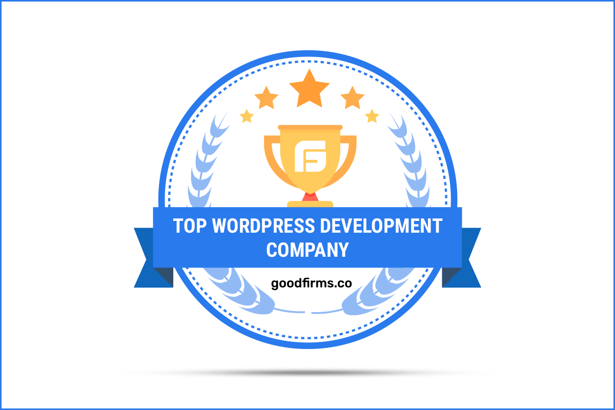 GoodFirms Badge Top WordPress companies