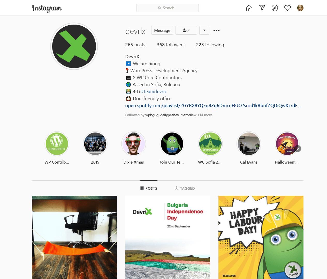 devrix Instagram profile