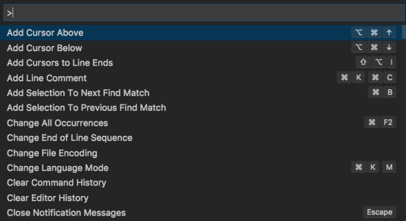 Example of VSCode