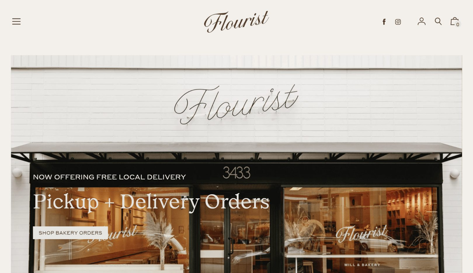 Flourist home page website