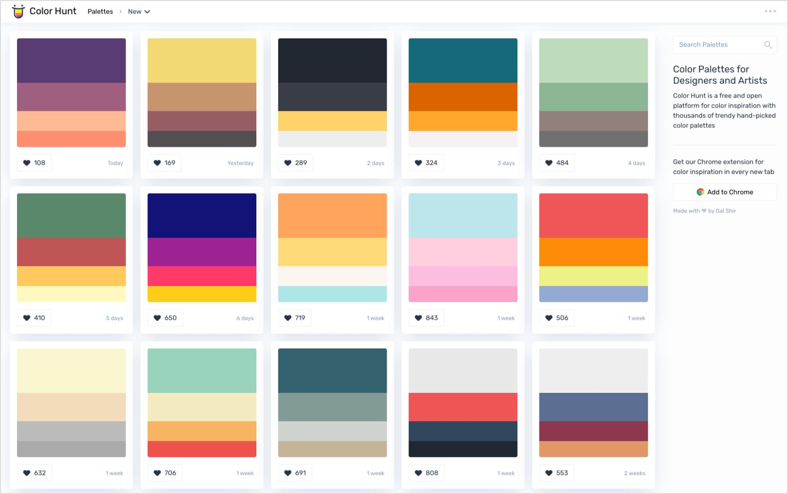 Color Hunt Example Screenshot