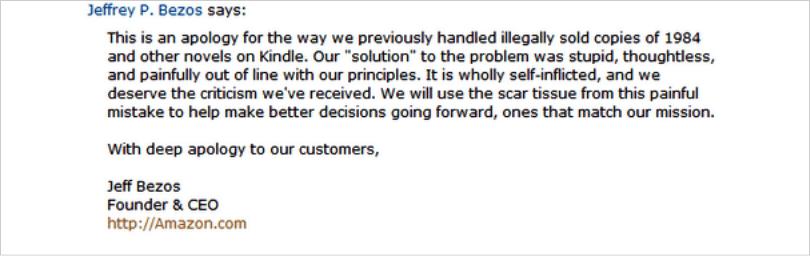 Example Jeff Bezos answer