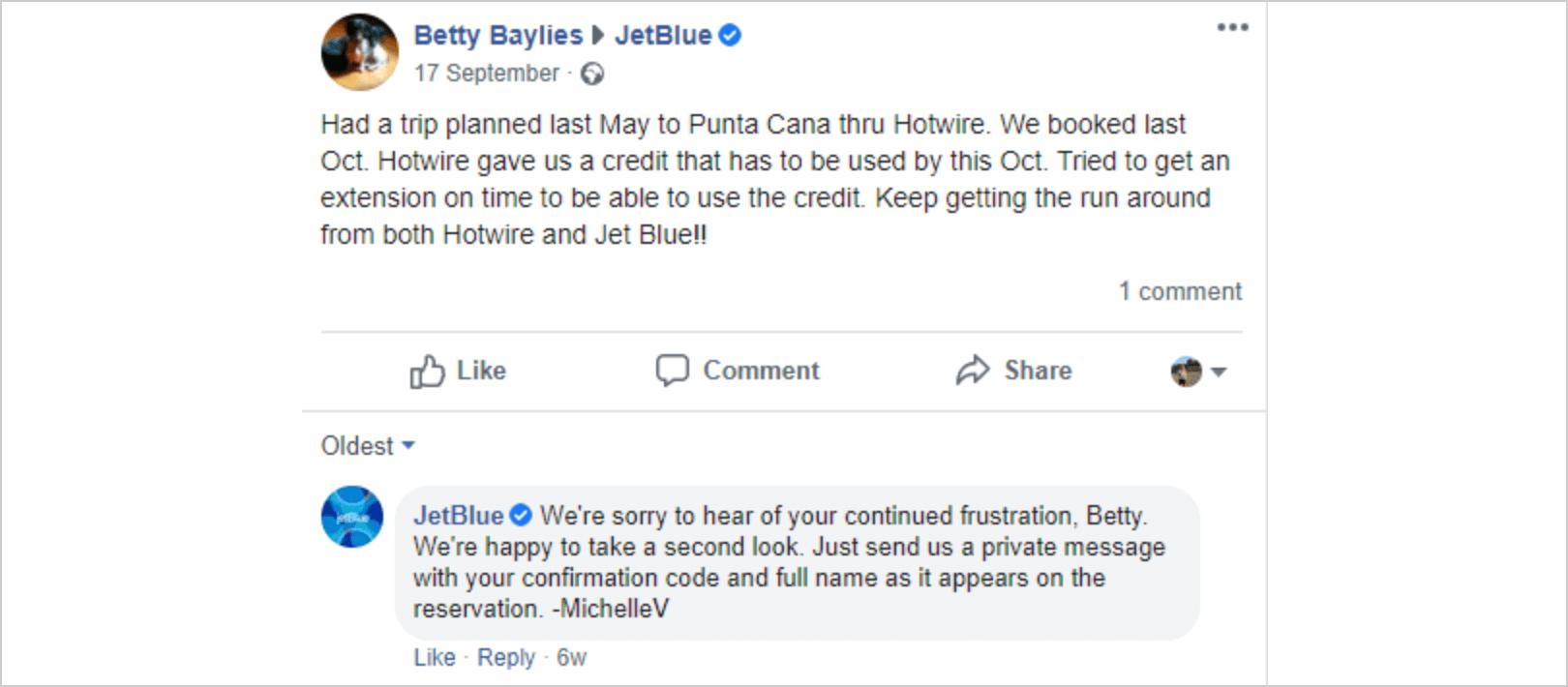 Example JetBlue