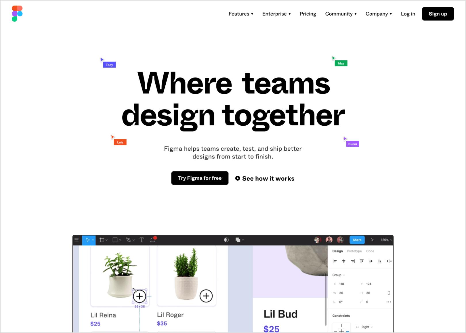 Figma Home Page Screenshot