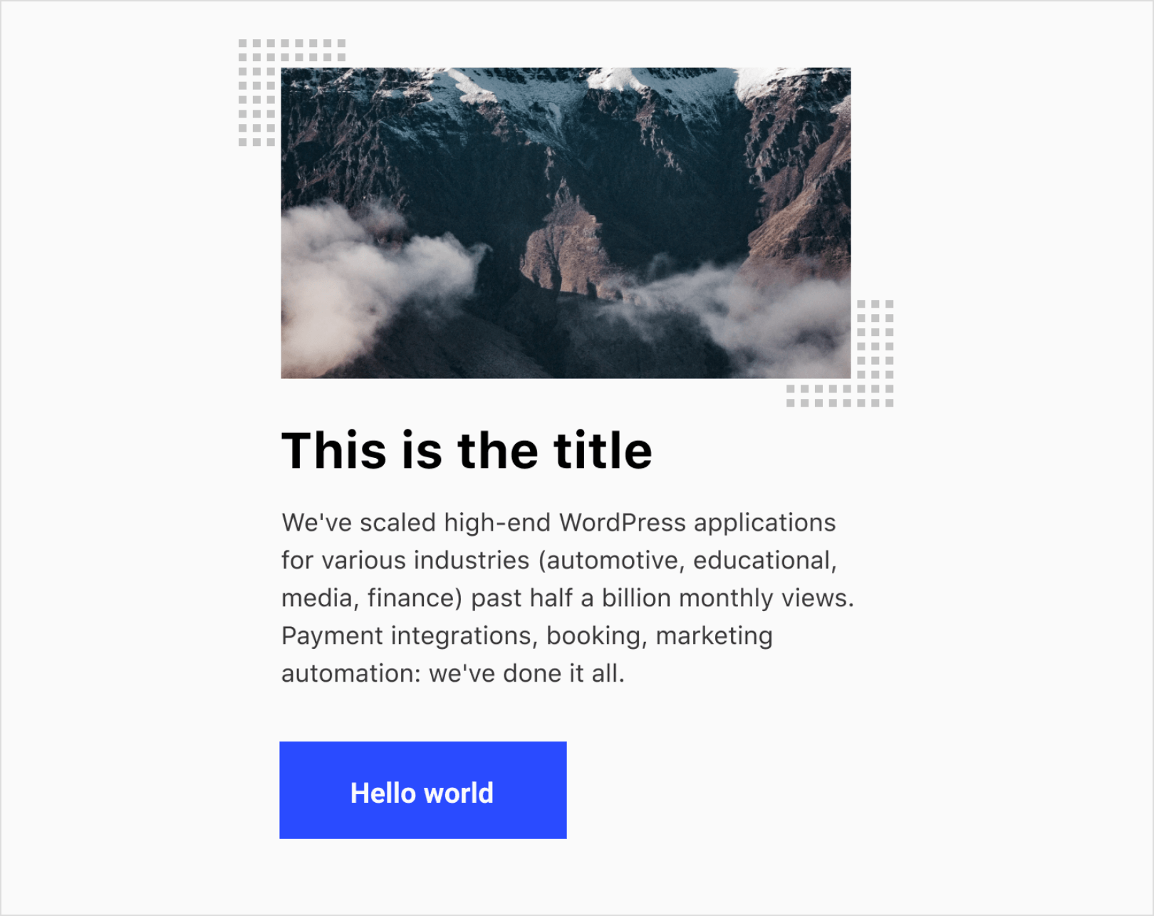 website style grid boxes