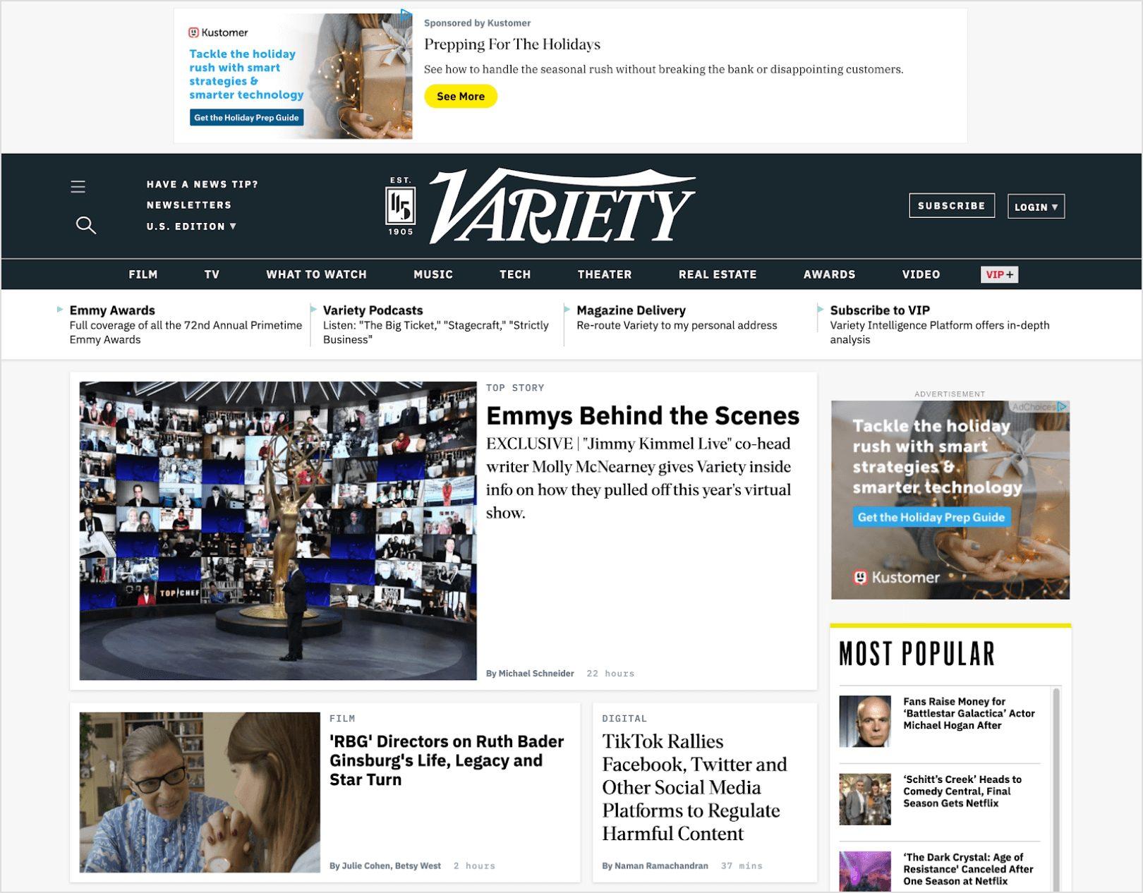 variety homepage