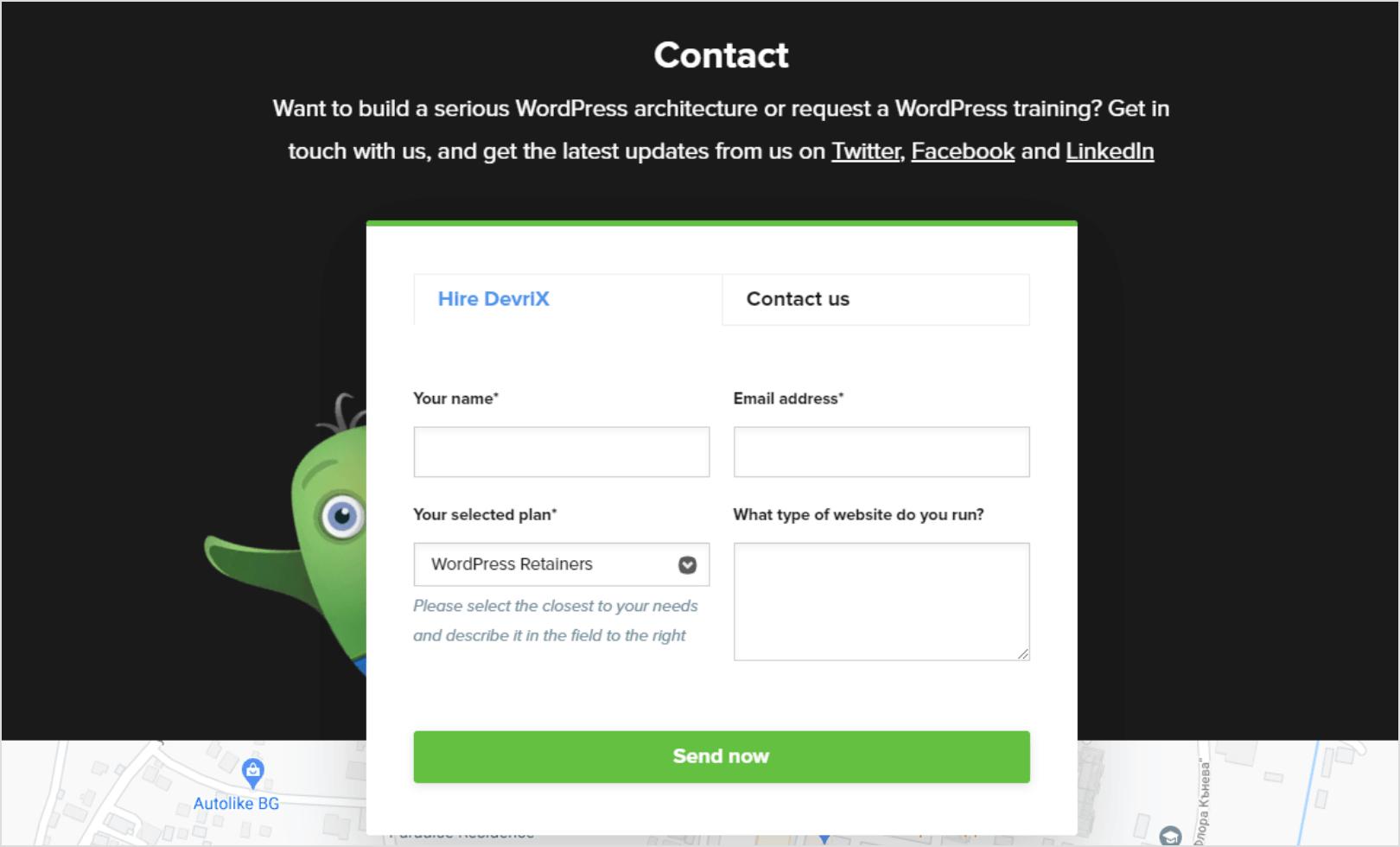 DevriX contacts screenshot