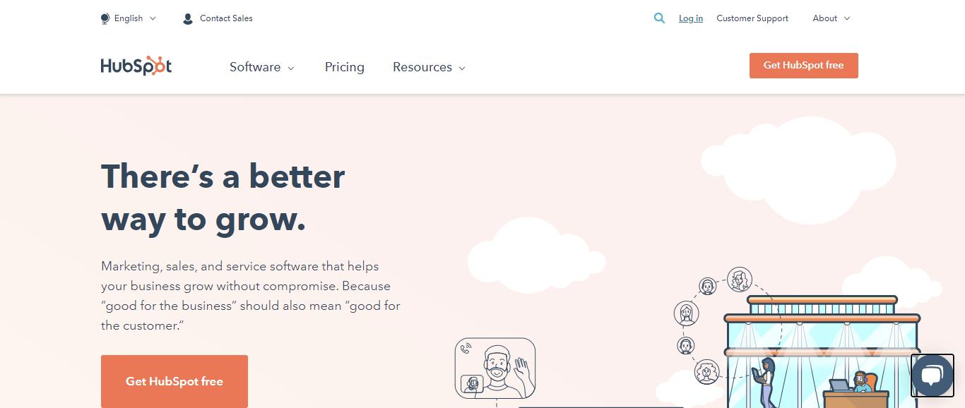 Hubspot Homepage Menu