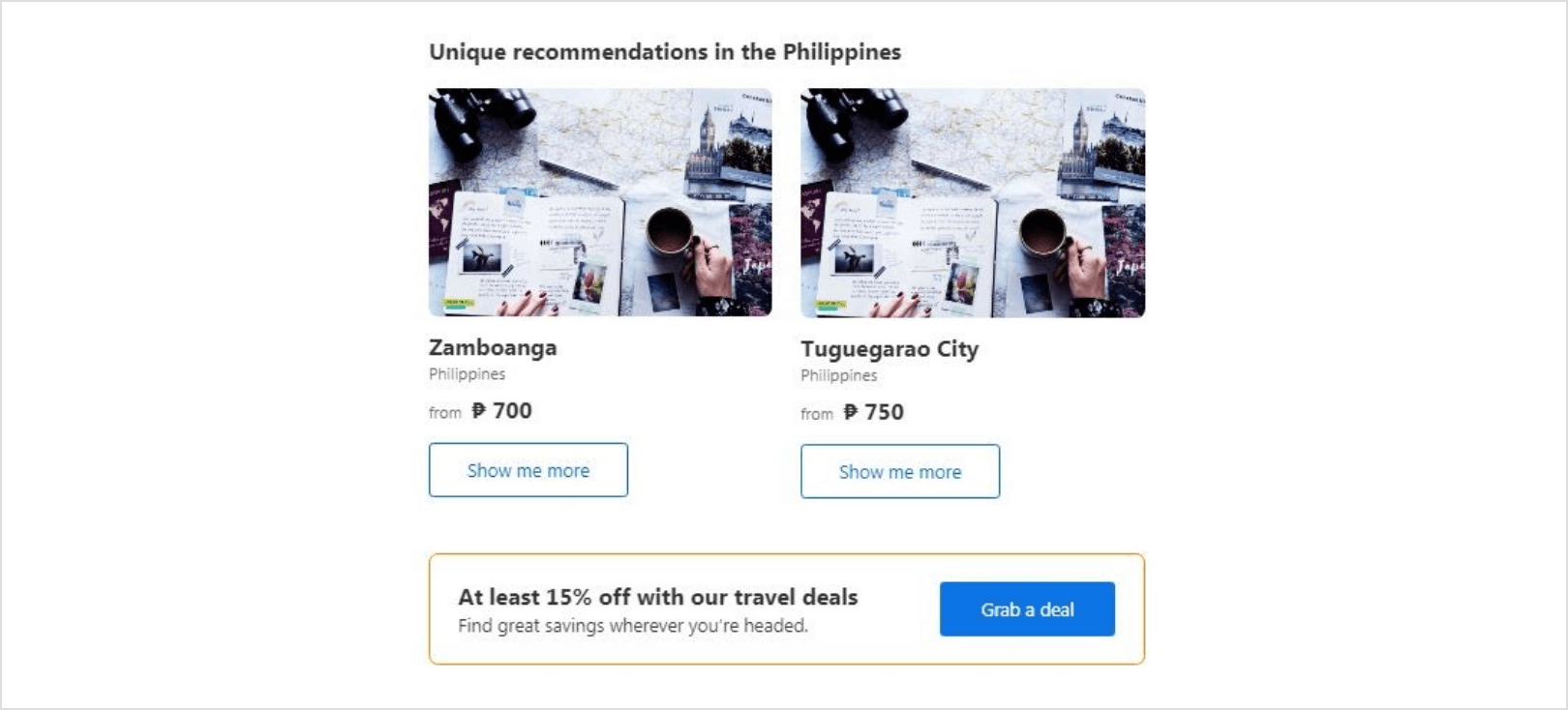 Personalized Marketing - Booking