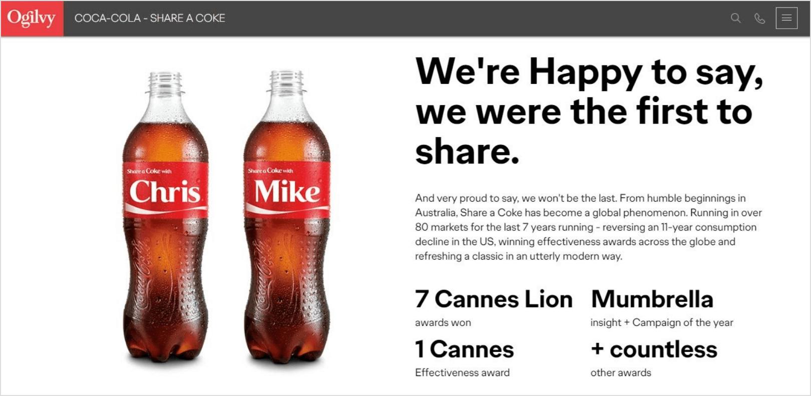 Personalized Marketing - Coca Cola