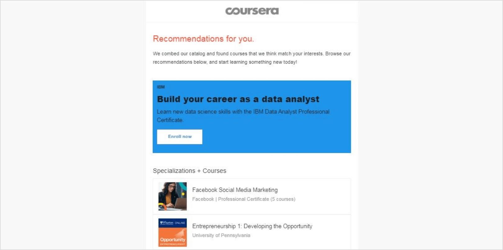 Personalized Marketing - Coursera