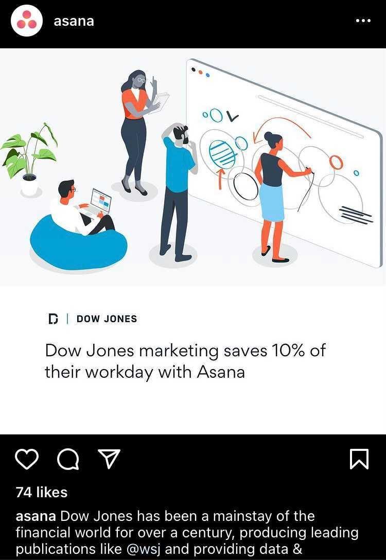 asana instagram example