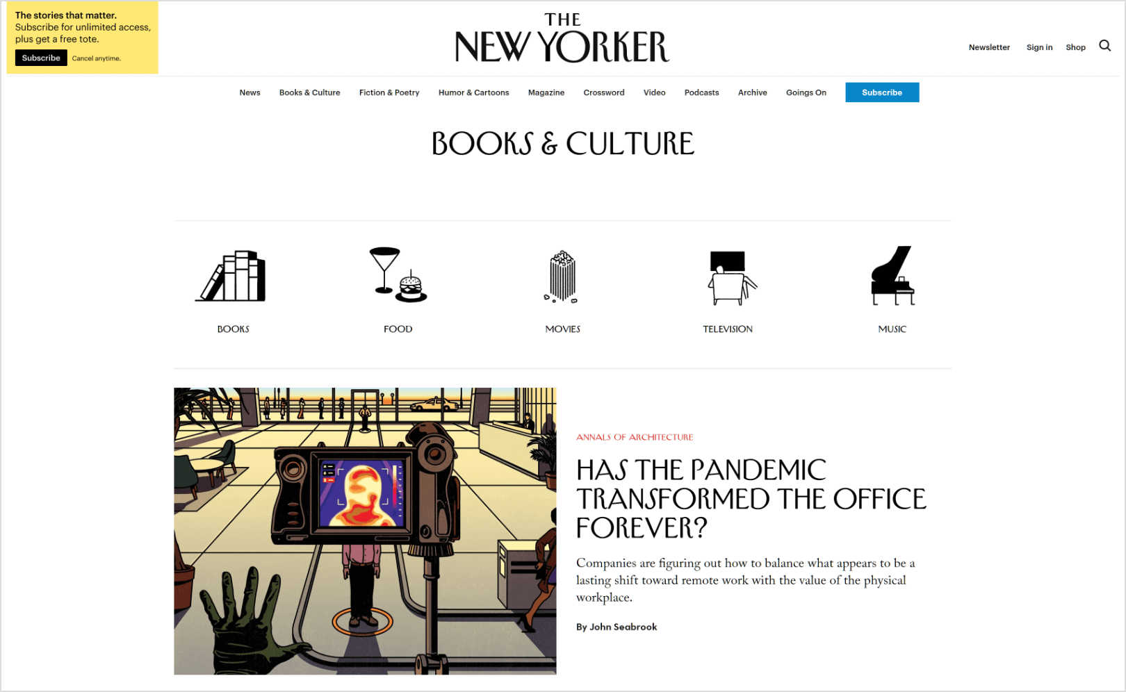 The-New-Yorker-books-and-culture-page