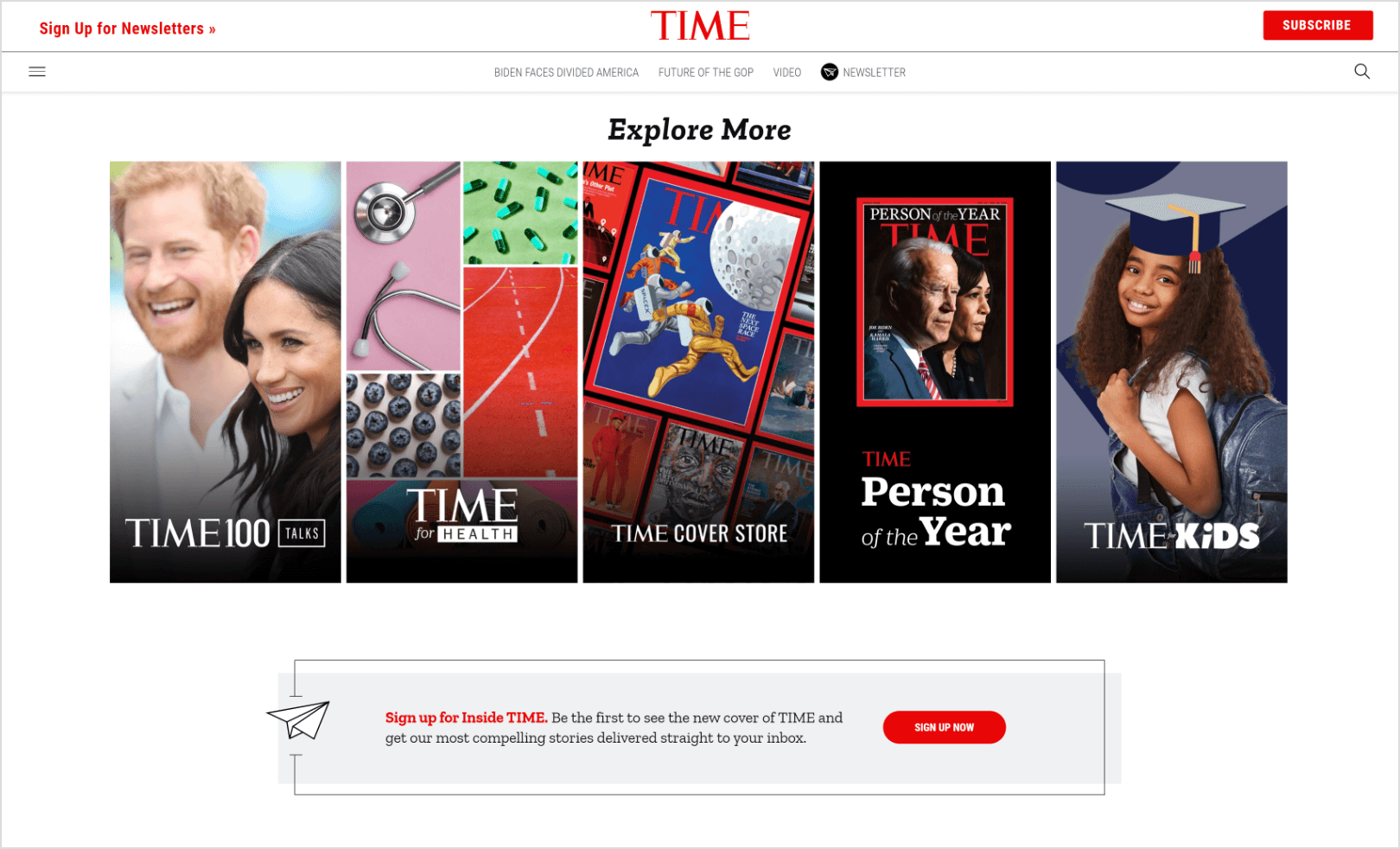 Time-home-page