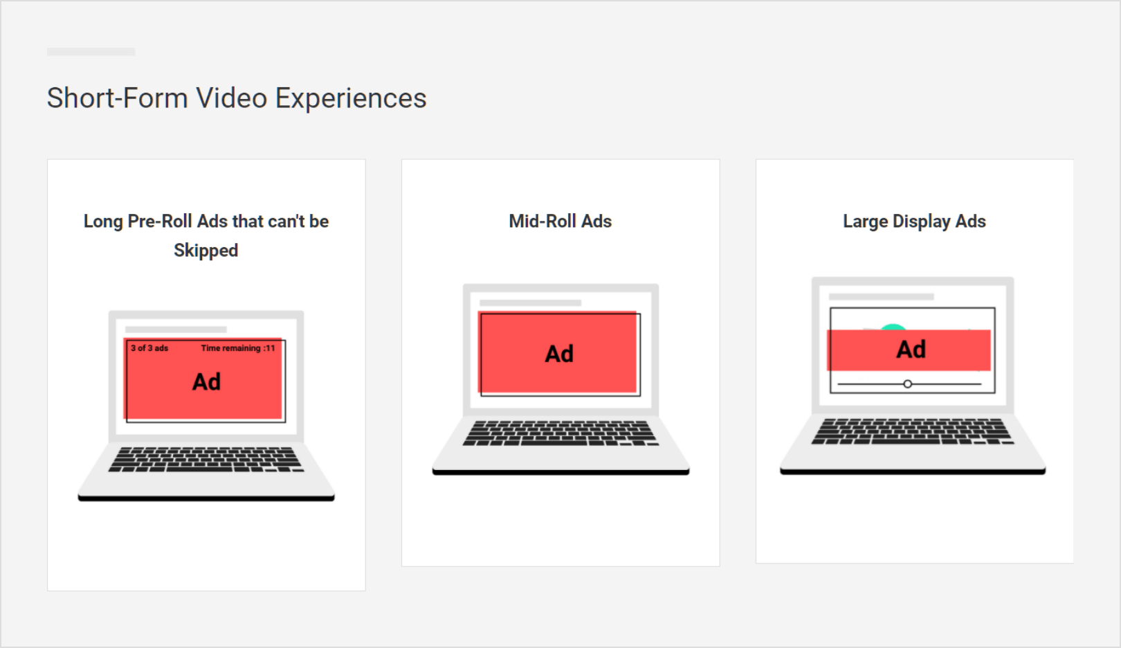Types of Ad Experiences