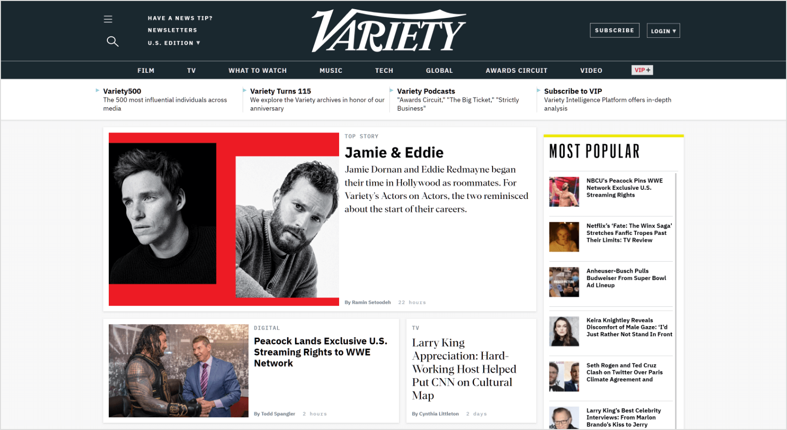 Variety-home-page