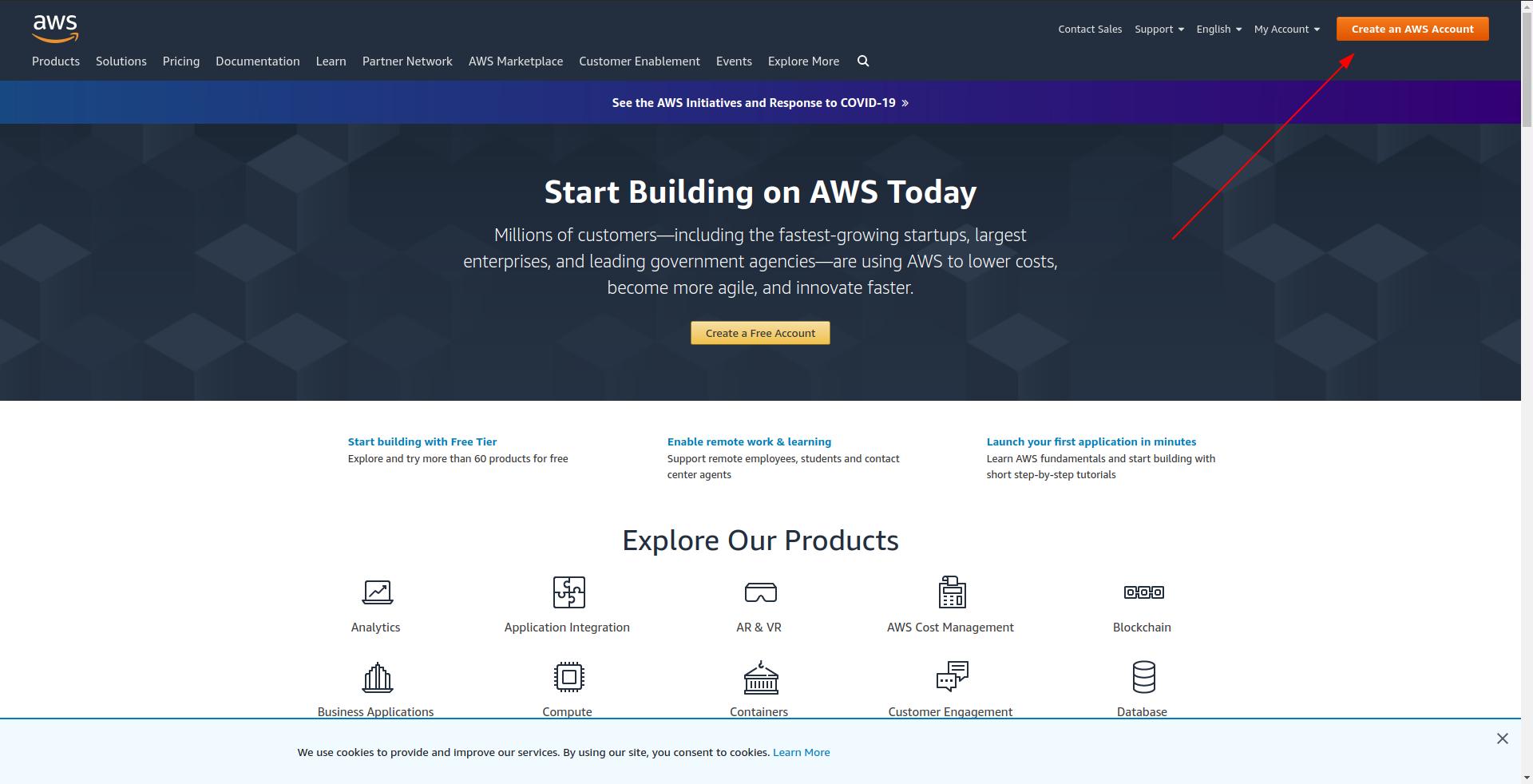 Create an Amazon AWS account