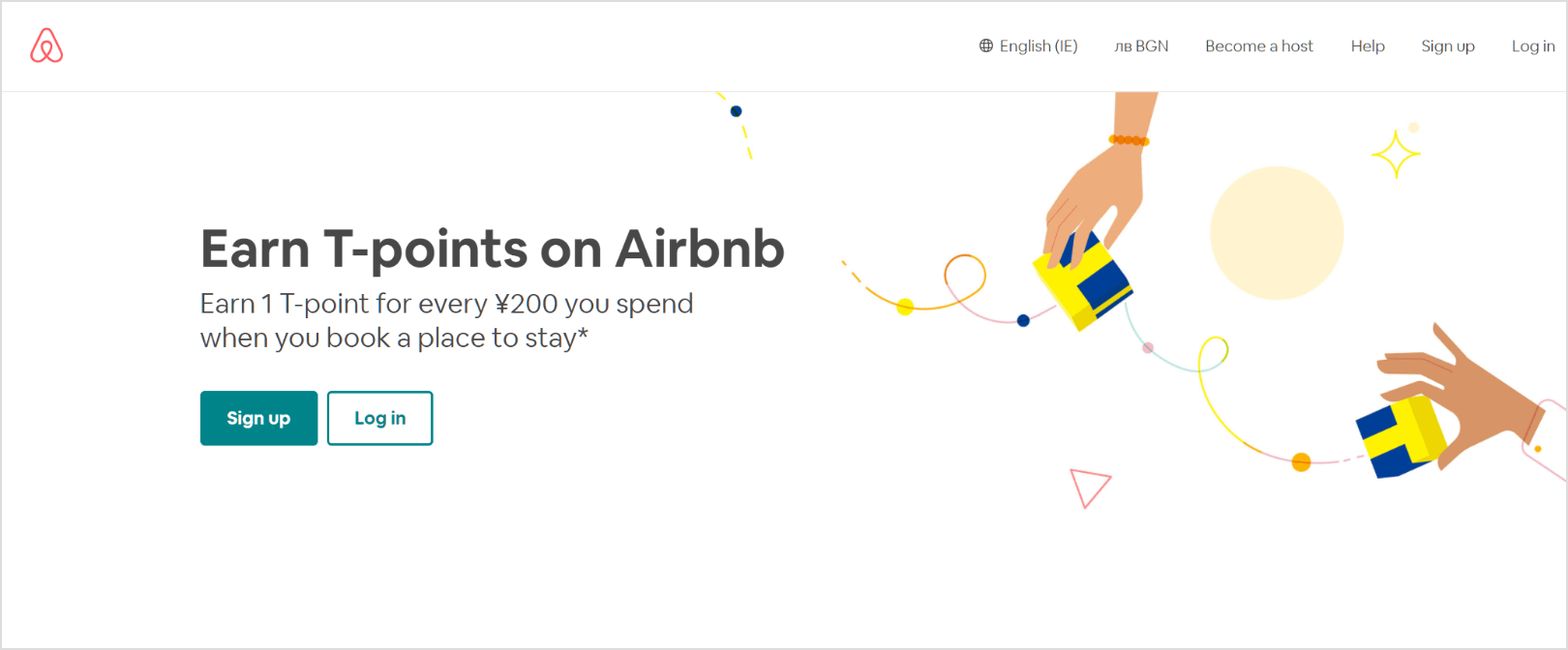 Airbnb Earn T-points