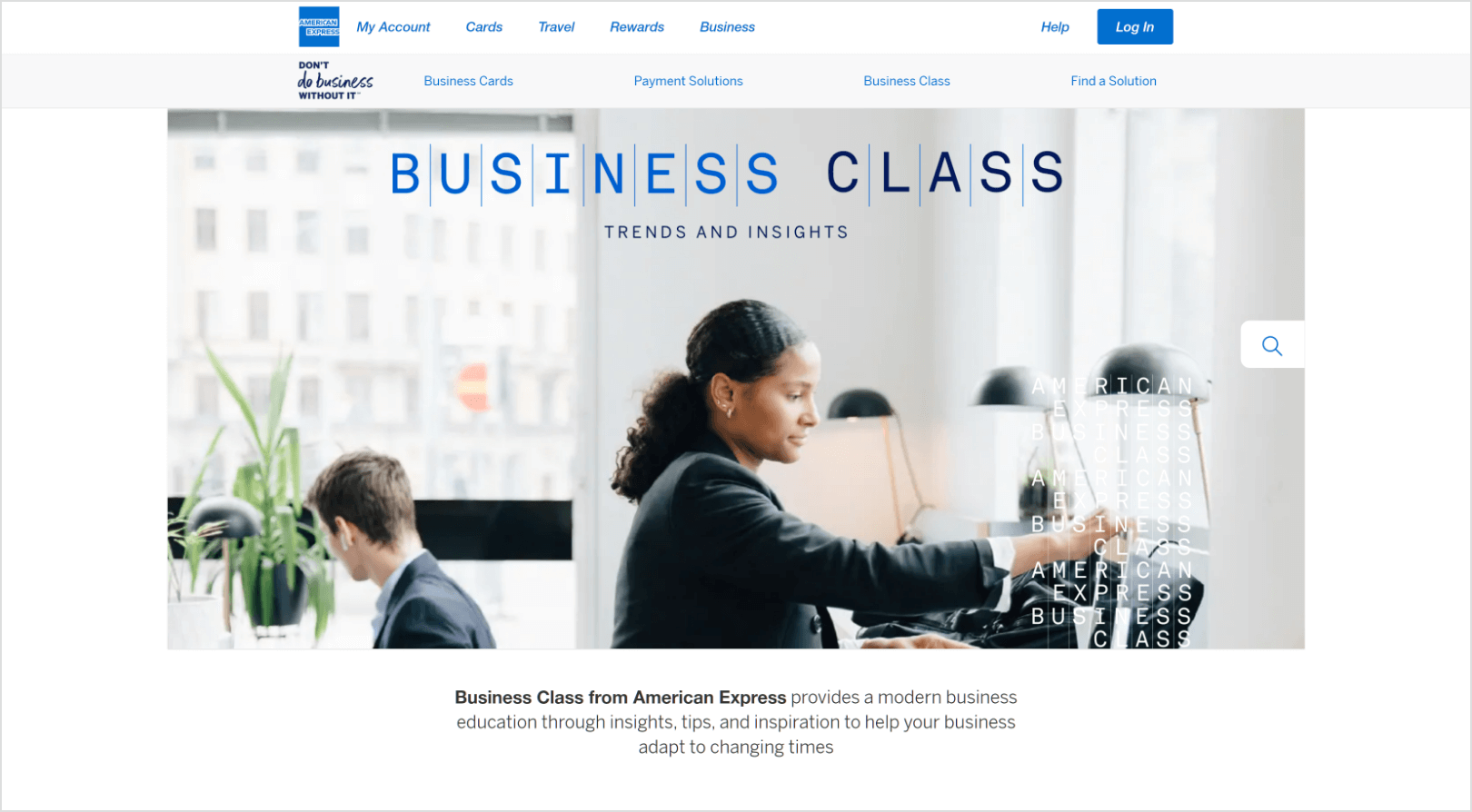 American Express Helping Businesses Do More Business Screenshot
