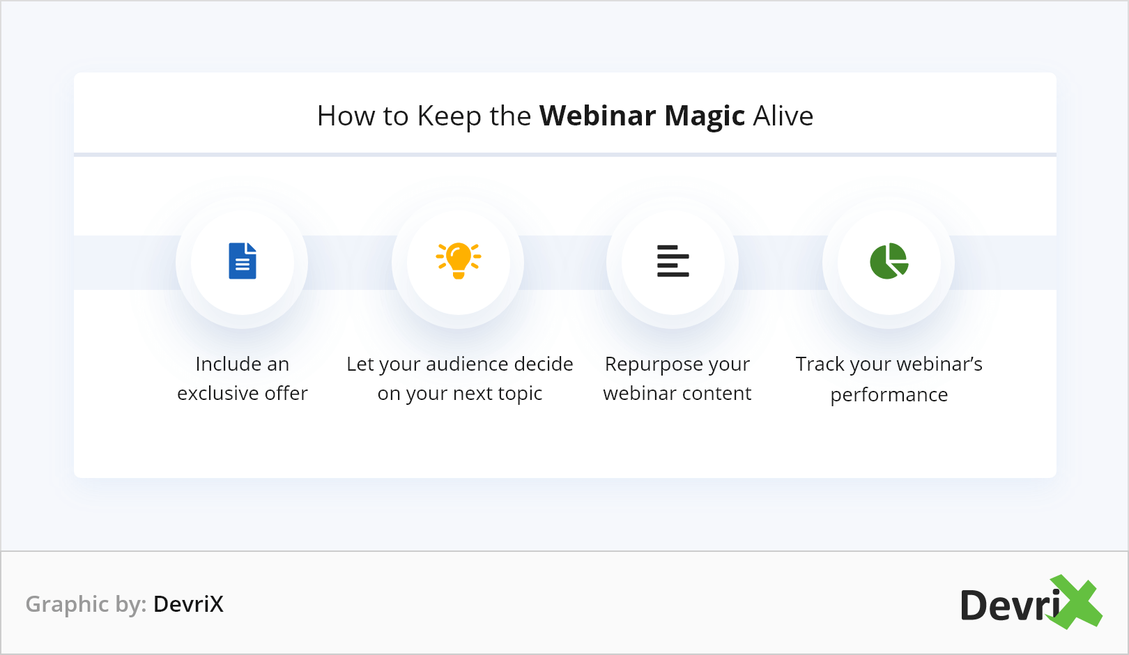 How to Keep The Webinar Magic Alive