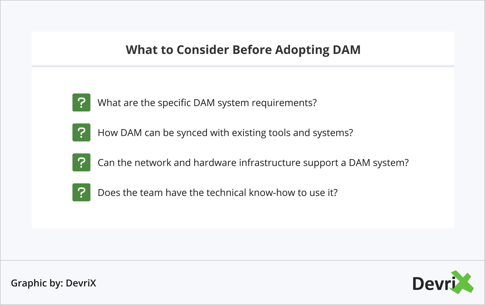 What to Consider Before Adopting DAM