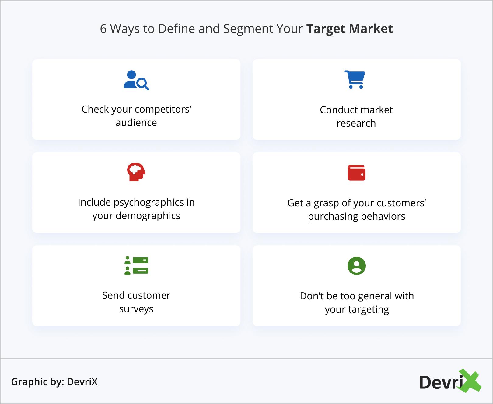 6 Ways to Define and Segment Your Target Market