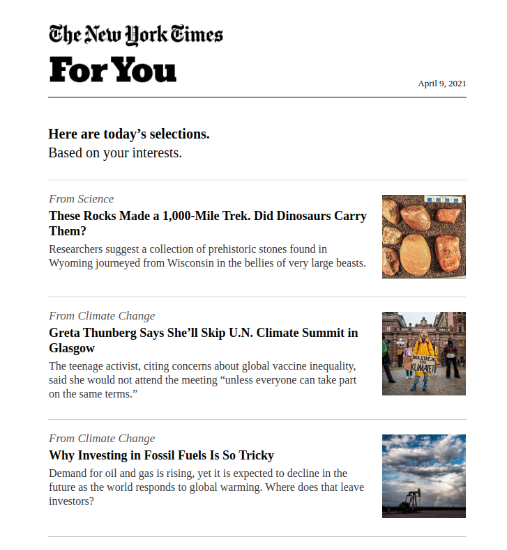 Personalized Newsletters to Loyal Audience
