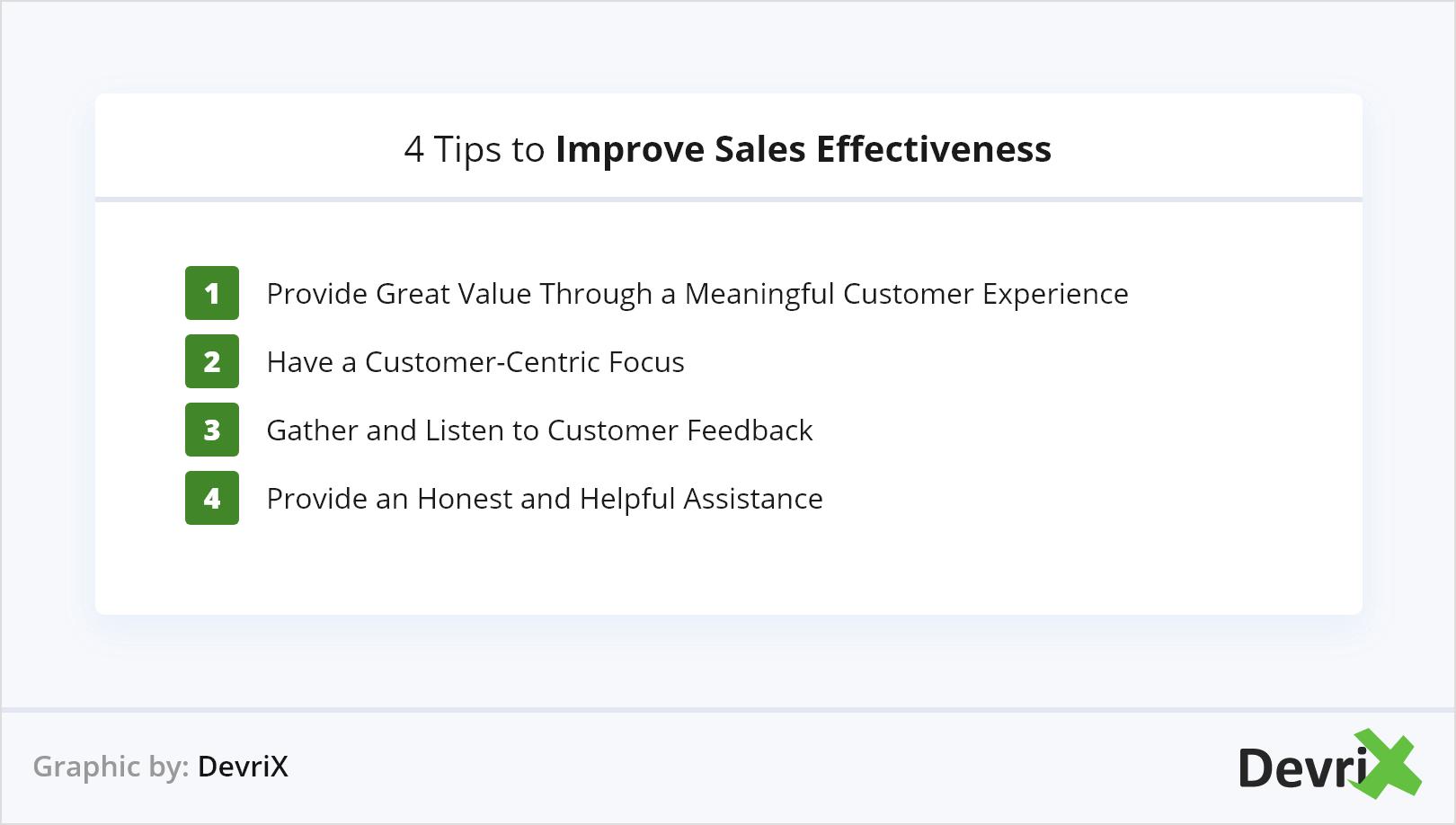 4 Tips to Improve Sales Effectiveness