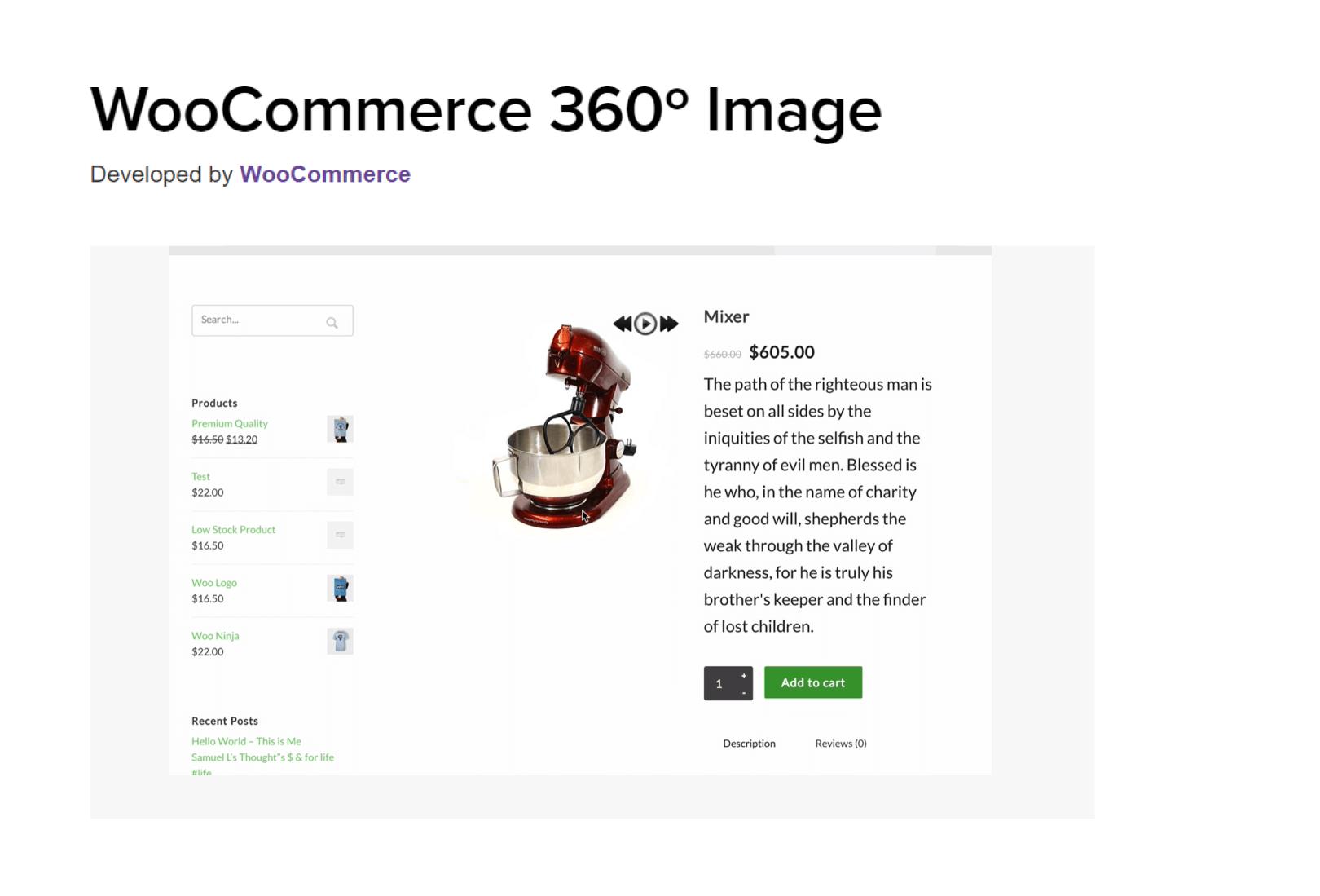 360 woocommerce