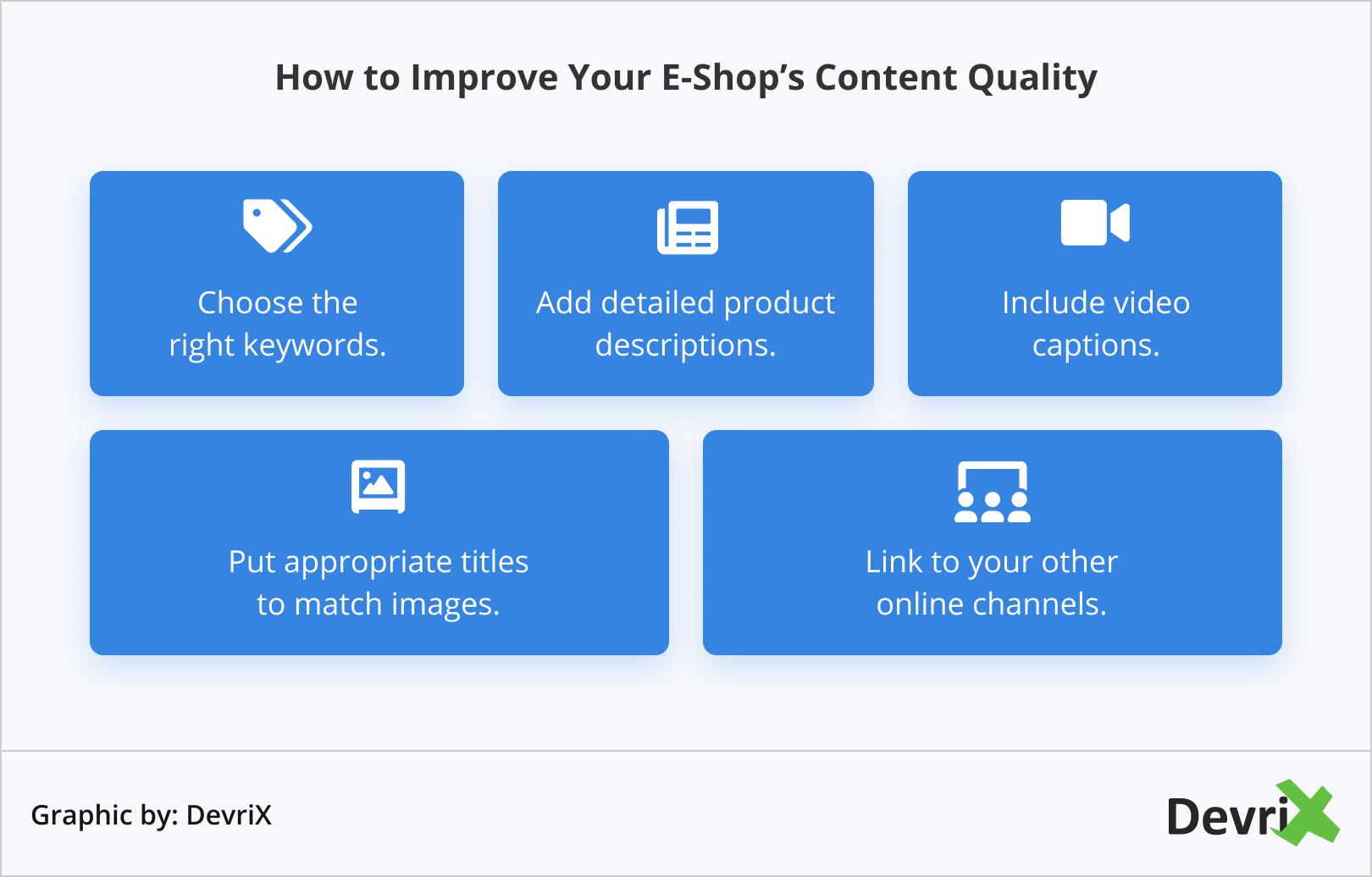 How to Improve Your E-Shop's Content Quality