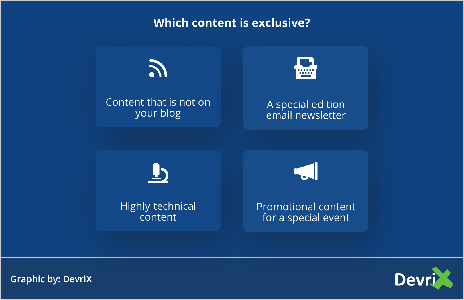 Which content is exclusive_