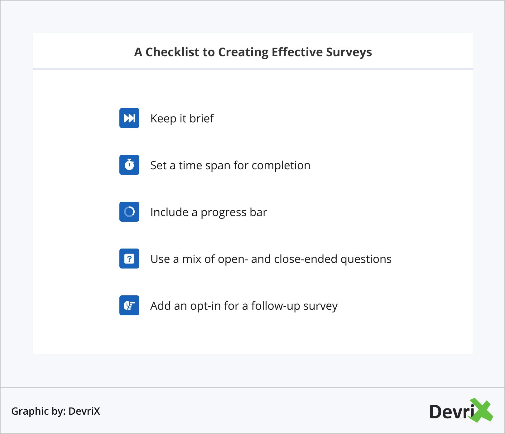 A Checklist to Creating Effective Surveys